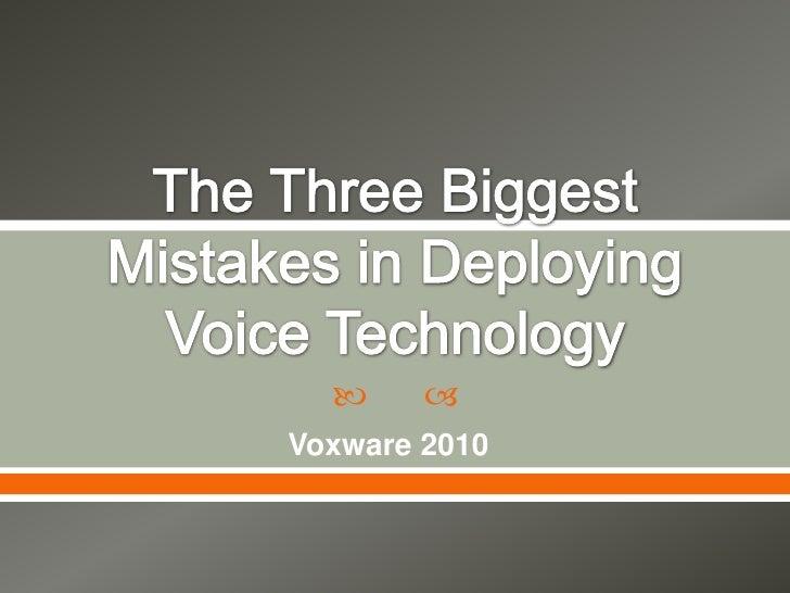      Voxware 2010