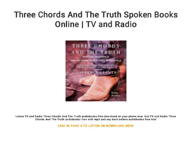 Three Chords And The Truth Spoken Books Online Tv And Radio