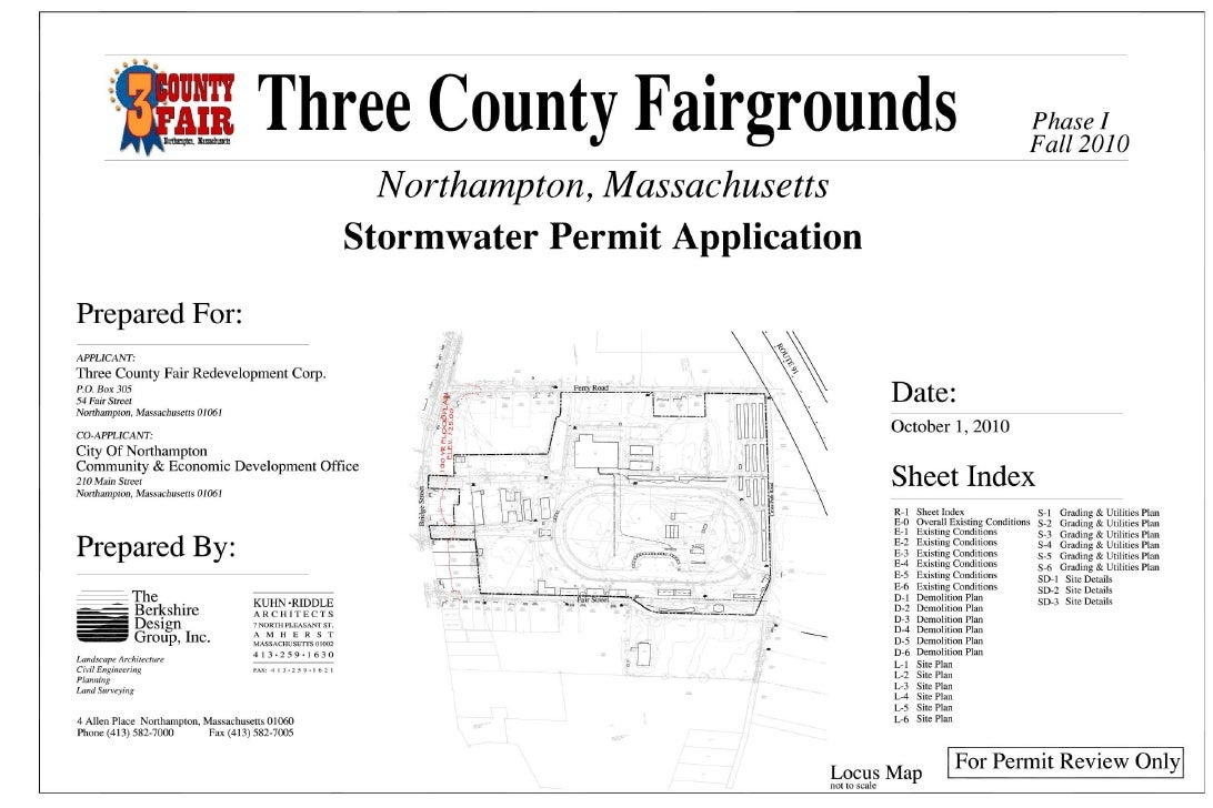 Three County Fairgrounds Stormwater Permit Application 10-01-2010