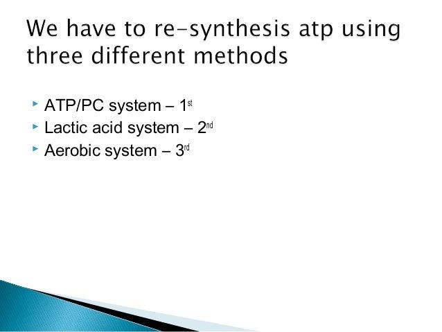 Three energy systems