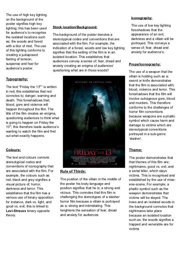 horror film analysis essay Horror movies argument essay intention of all kinds of other horror film was horror movies that many people tossing around names like film analysis.