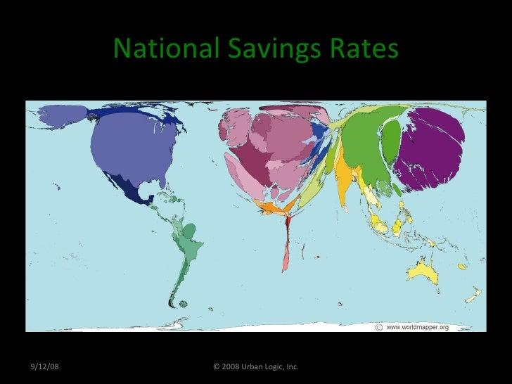 National Savings Rates 9/12/08 © 2008 Urban Logic, Inc.