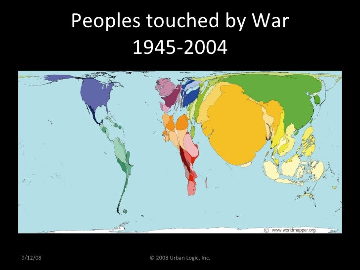 Peoples touched by War 1945-2004 9/12/08 © 2008 Urban Logic, Inc.