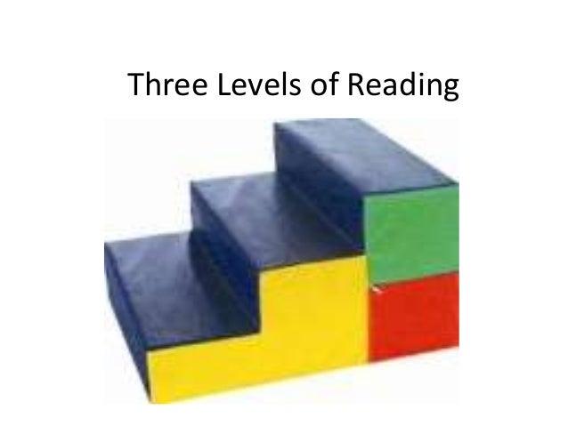 Three Levels of Reading