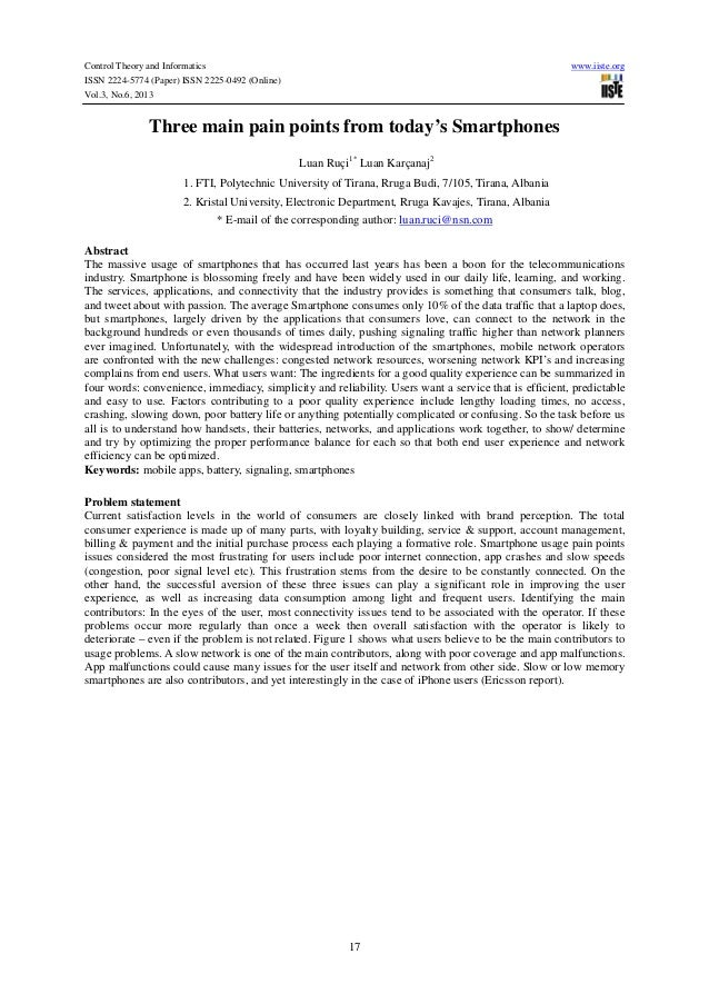 Control Theory and Informatics ISSN 2224-5774 (Paper) ISSN 2225-0492 (Online) Vol.3, No.6, 2013  www.iiste.org  Three main...