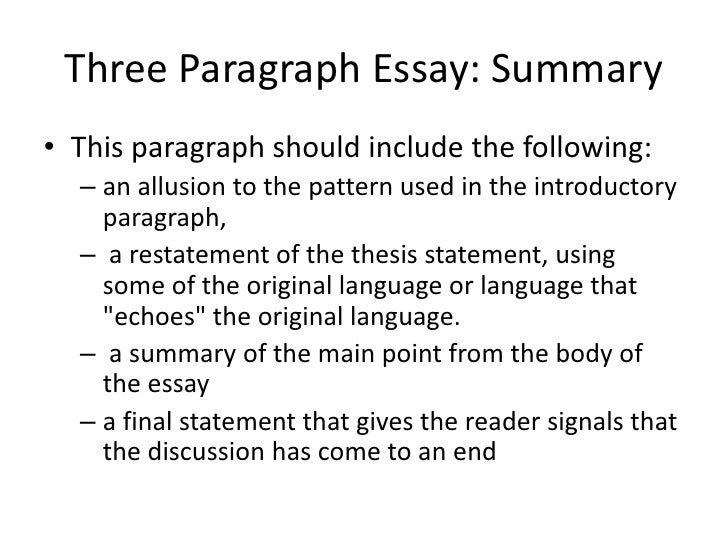 Three Paragraph Essay  Three Paragraph Essay