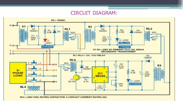 three phase appliance protector circuit diagram