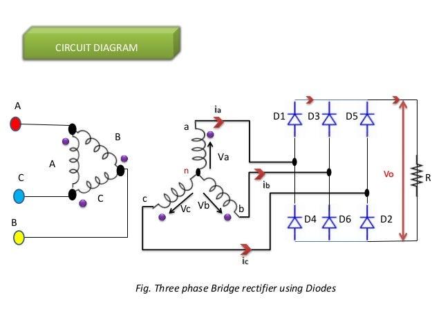 three phase full wave rectifier rh slideshare net Three-Phase Rectifier Calculations Three-Phase Rectifier Output Voltage