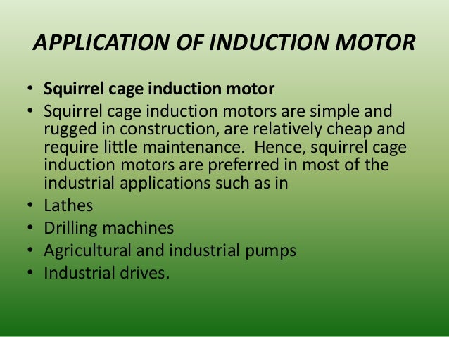 Three Phase Induction Motor Applications 28 Images