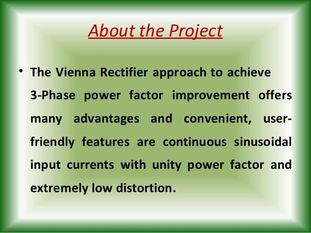Three Phase Power Factor Improvement Using Vienna Rectifier