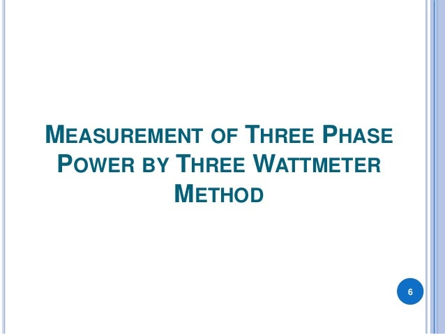 three phase power measurement pdf