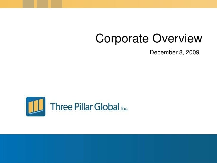 Corporate Overview<br />December 6, 2009<br />