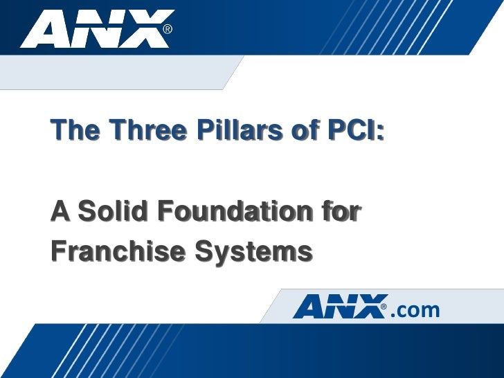 The Three Pillars of PCI:A Solid Foundation forFranchise Systems                            .com