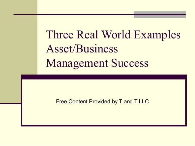 strategic management real world examples In the example above, the program management goal is to build  as part of the  strategic plan managing interdependencies between projects.