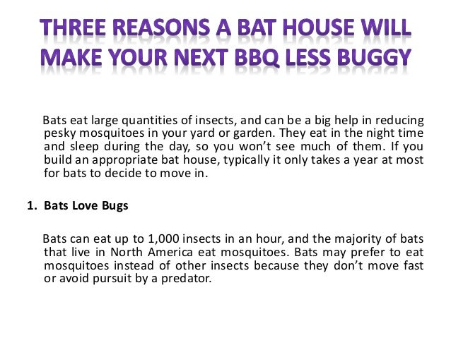 Three reasons a bat house will make your next bbq less buggy for How to make a bat house