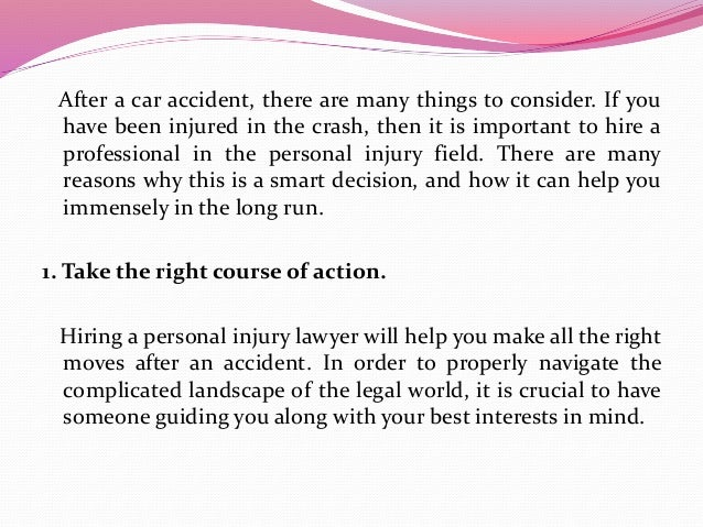 After a car accident, there are many things to consider. If you have been injured in the crash, then it is important to hi...
