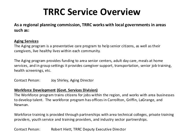 Three Rivers Regional Commission Summary
