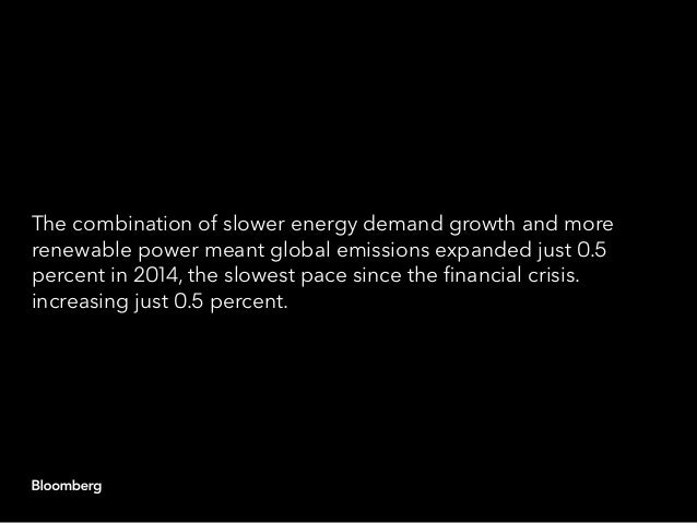 The combination of slower energy demand growth and more renewable power meant global emissions expanded just 0.5 percent i...