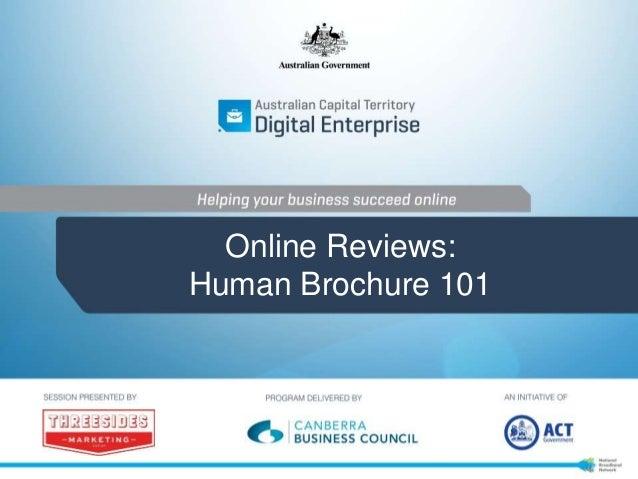 Online Reviews: Human Brochure 101