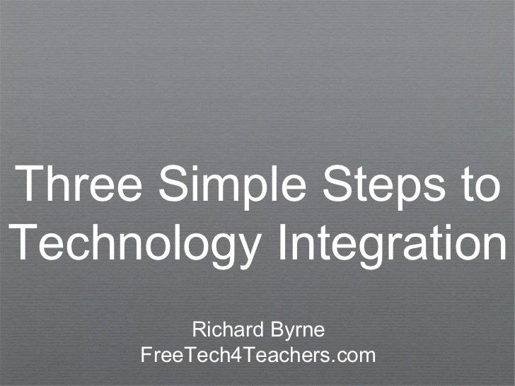 Three Simple Steps toTechnology Integration          Richard Byrne     FreeTech4Teachers.com