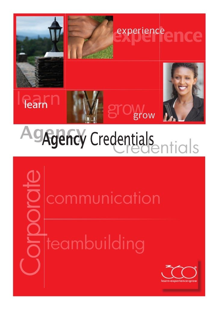 experience                experiencelearn learn               grow                  grow Agency Credentials   Agency Crede...