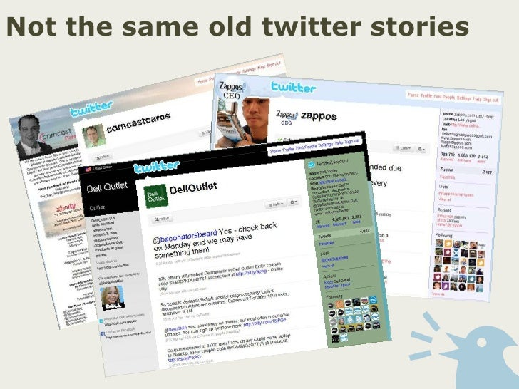 Not the same old twitter stories<br />