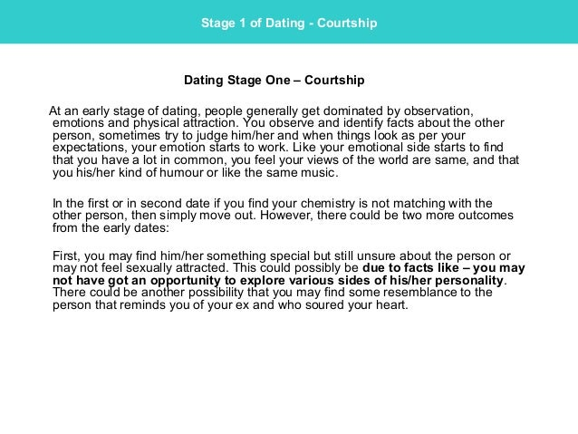3 stages of dating