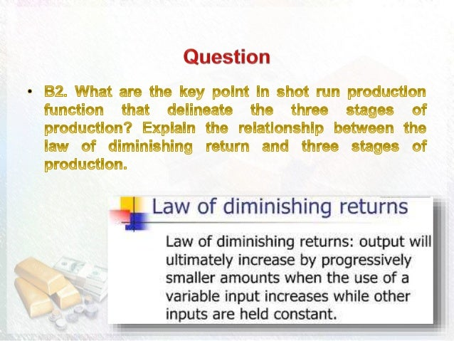 explain the stages of production