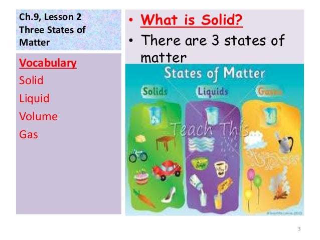 Three states of matter g2 for What s a solid