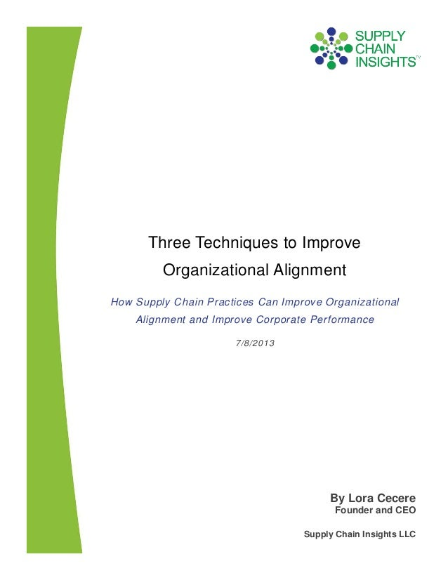 Three Techniques to Improve Organizational Alignment-9 July 2013