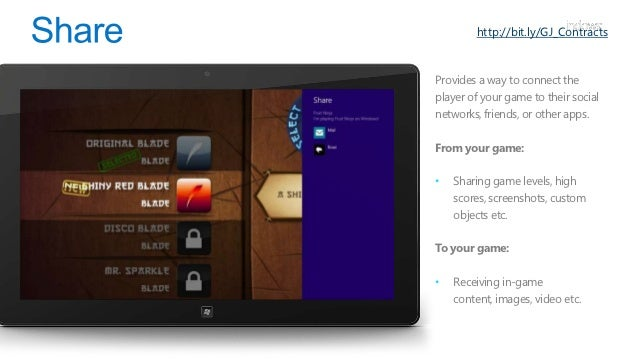http://bit.ly/GJ_ContractsExtend your experience beyondWindows 8 and push yourcontent to devices on your localnetwork.The ...