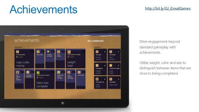 http://bit.ly/GJ_W8StoreDesigned for discovery• Spotlight, Recommend, Browse/Fil   er, Search• IE10 & Deep linksUnpreceden...