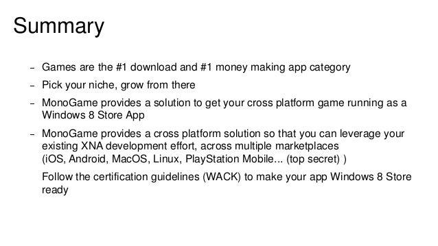 Microsoft Windows 8 Monogame Gaming Three Thing Game