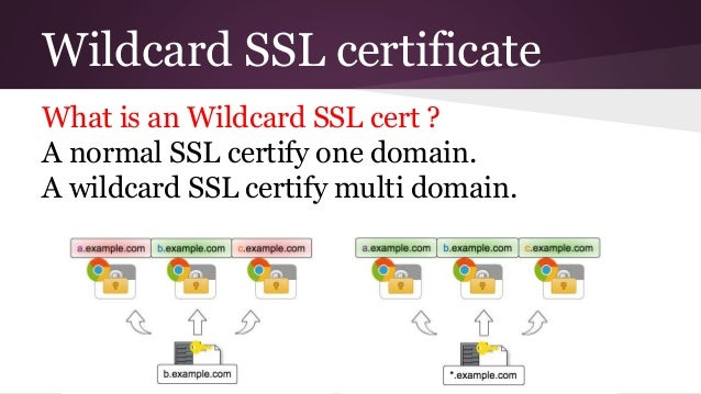 Three things for wildcard ssl certs
