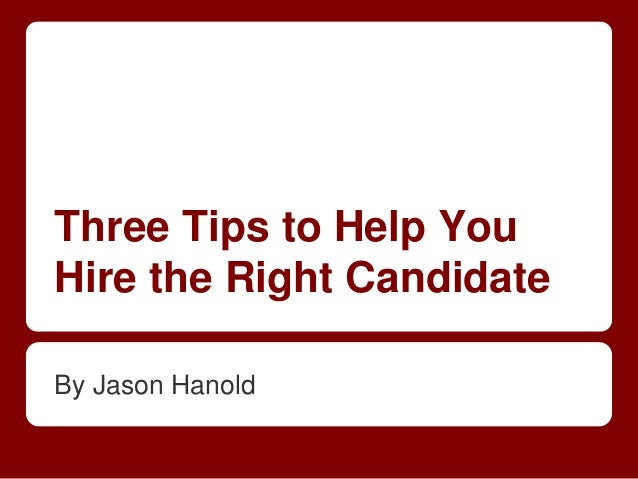 Hire a candidate