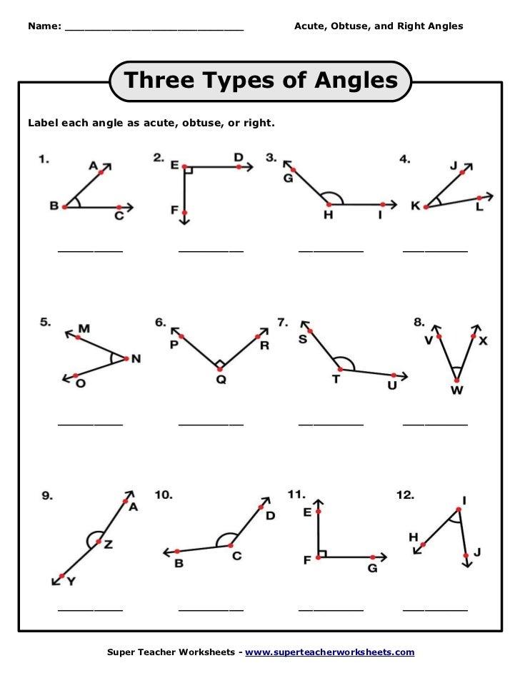 4th Grade line segment worksheets 4th grade : Naming-angles-worksheet & Name That Angle