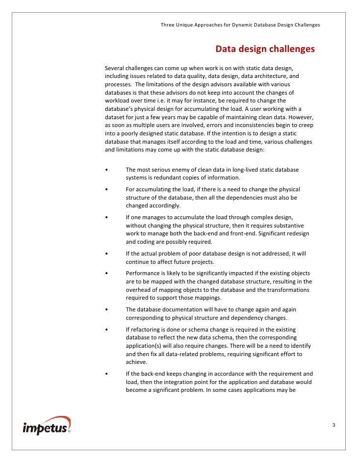 database design guideline essay Many people choose to create their first database using one of the many free access 2013 database templatesunfortunately, this isn't always an option, as you sometimes need to create a database with business requirements that aren't met by one of the available templates.