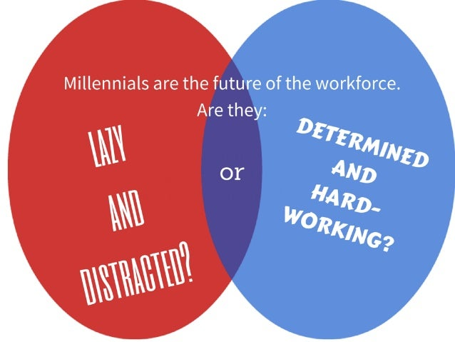 Millennials are the future of the workforce. Are they: lazy and distracted? or determined and hard-working?