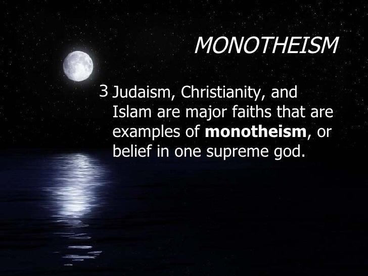 Three World Religions - Three major world religions