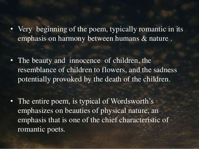 The Lucy Poems Summary