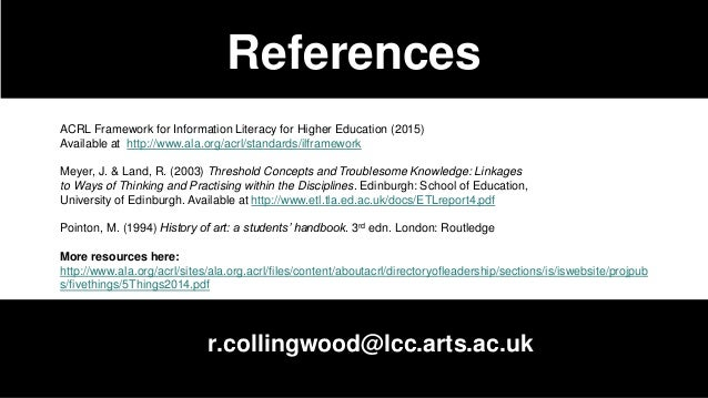 Framework Spotlight on Scholarship ... - acrl.ala.org