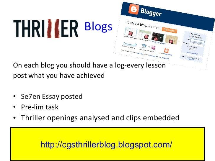 Blogs <ul><li>On each blog you should have a log-every lesson </li></ul><ul><li>post what you have achieved </li></ul><ul>...
