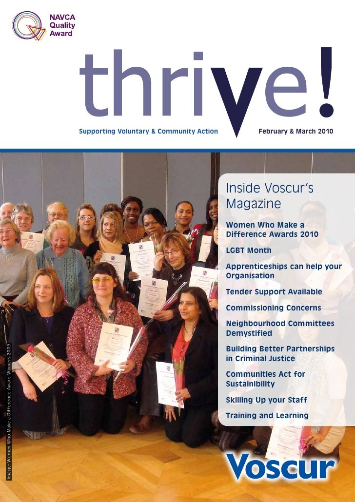 Supporting Voluntary & Community Action           February & March 2010                                                   ...
