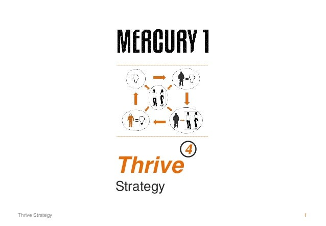 Thrive Strategy 4 Thrive Strategy 1