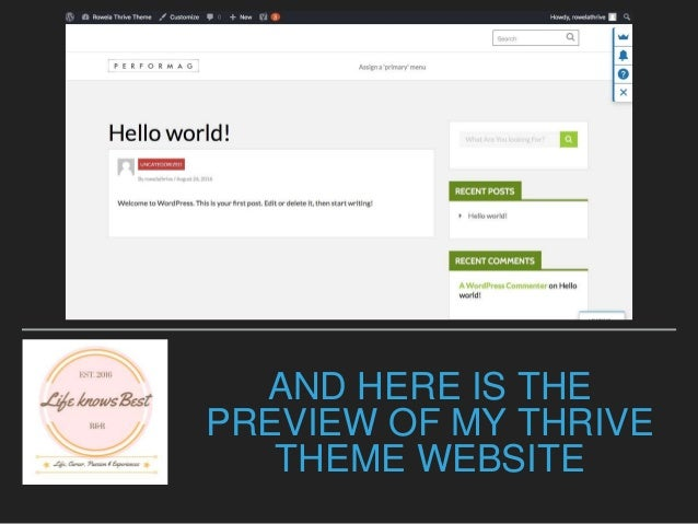 How to Install Thrive Themes and Thrive Visual Editor into your Wordp…