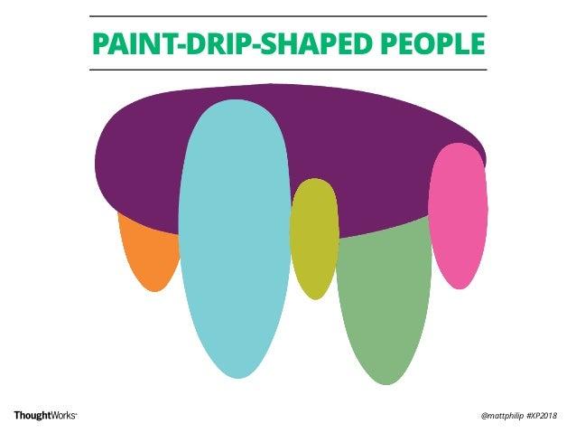 @mattphilip #XP2018 PAINT-DRIP-SHAPED PEOPLE