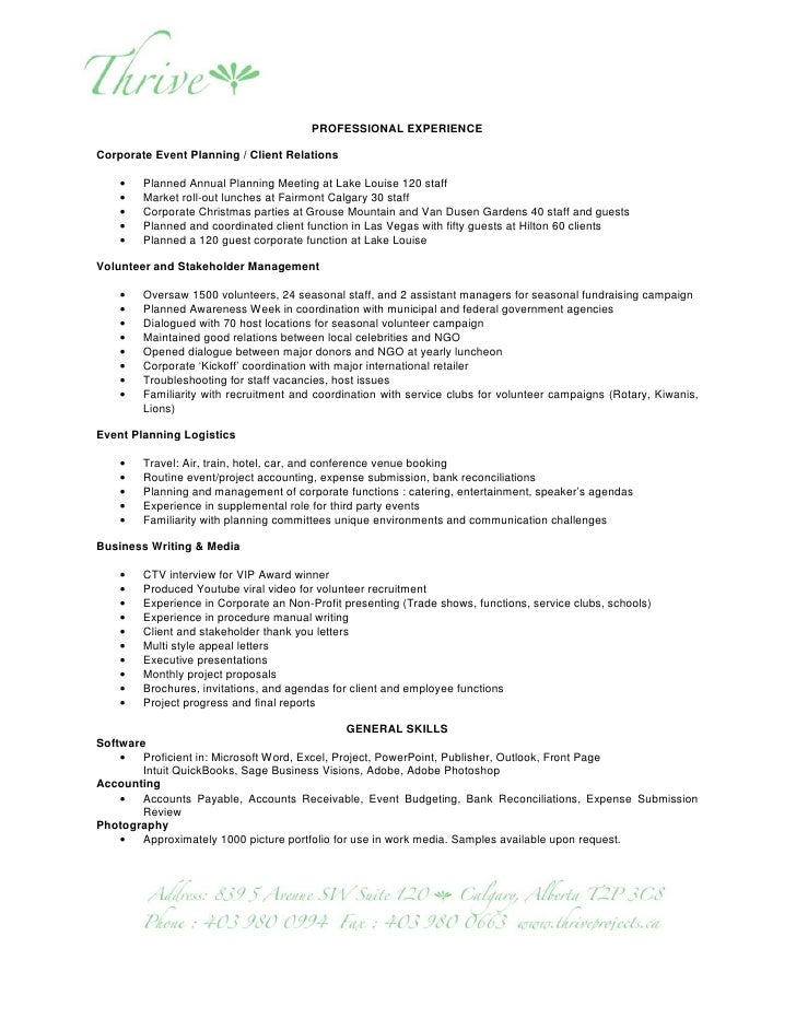 Project Management Resume