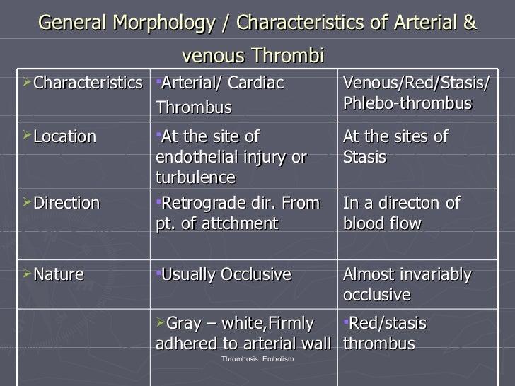 Arterial thrombosis vs venous thrombosis