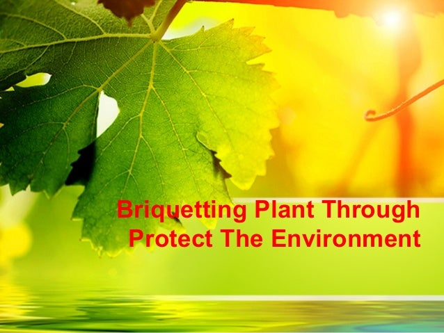 Briquetting Plant Through Protect The Environment