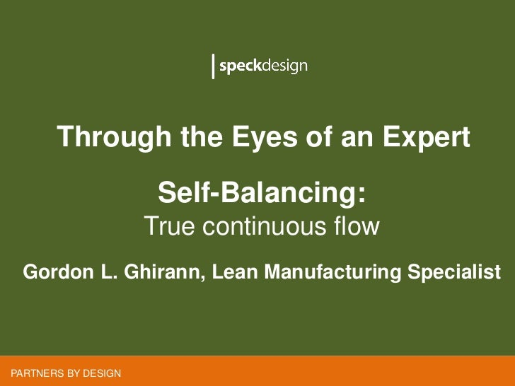 Through the Eyes of an Expert       Through the Eyes of an Expert                     Self-Balancing:                     ...